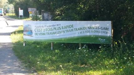 Le Tram-Train arrive à La Chapelle sur Erdre